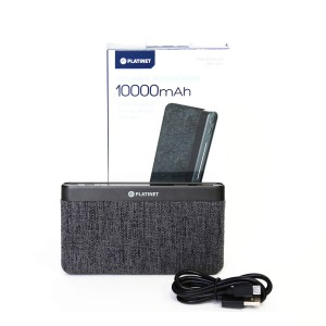 PLATINET 10000MAH DARK GRAY POWERBANK 44385