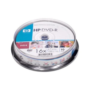 HP DVD-R 4.7GB 16* CAKE10 130582