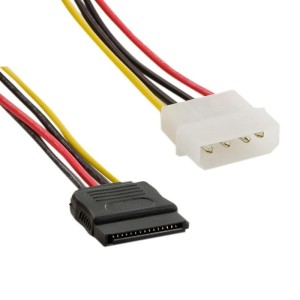 4WORLD KABEL MOLEX-SATA M/F 15CM 06857