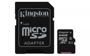 KINGSTON CANVAS SELECT 64GB microSDXC 80MB/s CL10 UHS-I SDCS/64 KARTA PAMIĘCI