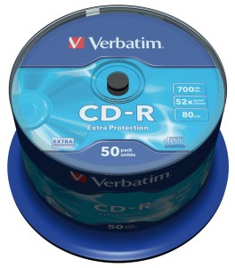 VERBATIM CD-R 700MB *52 CAKE50 43351