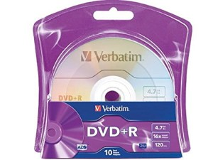 VERBATIM DVD+R 4.7GB 16X 10PK BLISTER BOX 96942