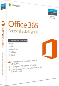 MICROSOFT OFFICE 365 PERSONAL PL 1PC 1ROK BOX QQ2-00535