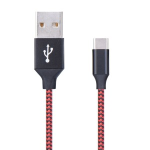 KABEL USB NYLON TYP C 1M RED 899187