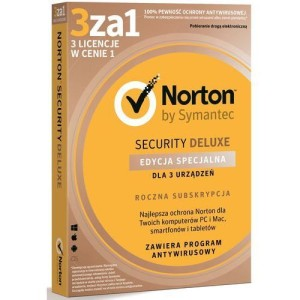 NORTON SECURITY DELUXE 3.0 PL (3 STAN./12 MIES.)