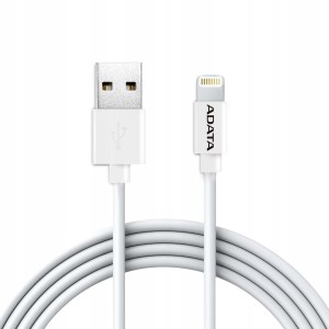 ADATA KABEL LIGHTNING/USB MFI 2M WHITE