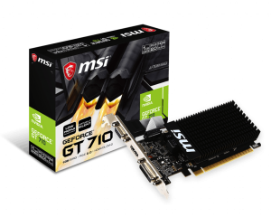 MSI GEFORCE® GT 710 1024/64 DDR3 GT 710 1GD3H LP VGA PCX KARTA GRAFICZNA