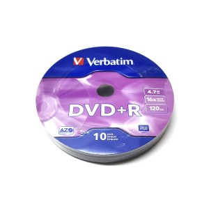 VERBATIM DVD+R 4.7GB 16X SP*10 96249