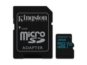 KINGSTON CANVAS GO! 32GB microSDHC 90MB/s C10 UHS-I V30 + ADAPTER SDCG2/32GB KARTA PAMIĘCI