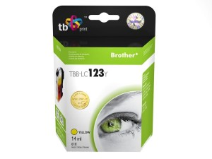 TB PRINT TBB-LC123Y BROTHER LC123 YELLOW TUSZ