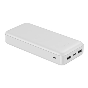 PLATINET 20000mAh POLYMER POWER BANK WHITE + KABEL microUSB 44813
