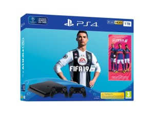 SONY PLAYSTATION 4 SLIM 1TB + FIFA 19 + 2 PADY CUH-2216
