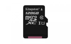 KINGSTON CANVAS SELECT 128GB microSDXC 80MB/s C10 UHS-I + ADAPTER SDCS/128 KARTA PAMIĘCI
