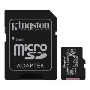 KINGSTON CANVAS SELECT PLUS 64GB microSD+ADPATER