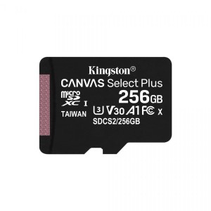 KINGSTON CANVAS SELECT PLUS 256GB microSD+ADAPTER