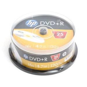 HP DVD+R 4.7GB 16* CAKE25 129623