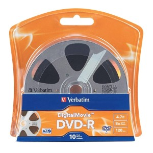 VERBATIM DVD-R DIGITAL MOVIE 8X 10PK BLISTER 96856