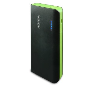 ADATA PT100 10000mAh BLACK/GREEN 2.1A POWER BANK