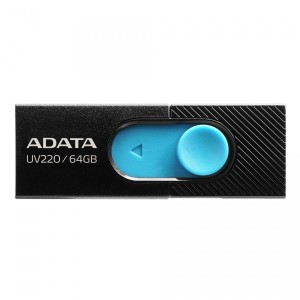 ADATA UV220 64GB BLACK/BLUE USB 2.0 PEN AUV220-64G-RBKBL PENDRIVE