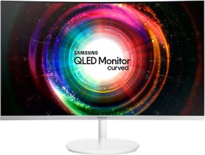 "SAMSUNG C27H711QEUX VA WQHD 4ms 27"" CURVED LED MONITOR WHITE"