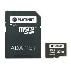 PLATINET 64GB microSDXC+ADAPTER CL10 42911