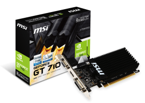 MSI GEFORCE® GT 710 2048/64 DDR3 GT 710 2GD3H LP VGA PCX KARTA GRAFICZNA