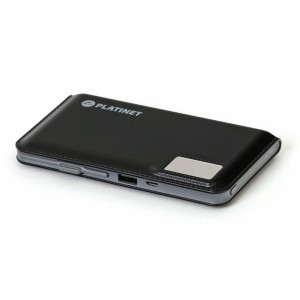 PLATINET 12000mAh 2.1A LCD BLACK POWER BANK 43799