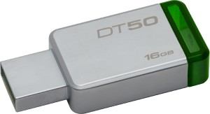 KINGSTON Datatraveler DT50 USB 3.0 METAL GREEN DT50/16GB PENDRIVE