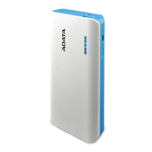 ADATA PT100 10000mAh WHITE/BLUE 2.1A POWER BANK