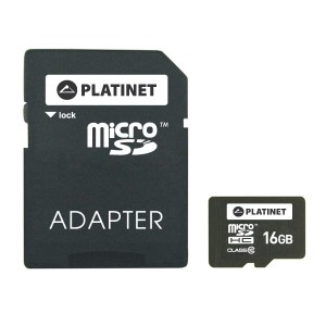 PLATINET 16GB MICRO SD CLASS10+ADAPTER PMMSD1610