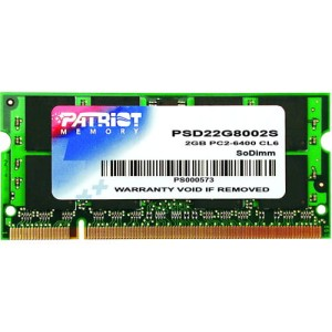 PATRIOT DDR2 SODIMM 2GB 800MHz PSD22G8002S
