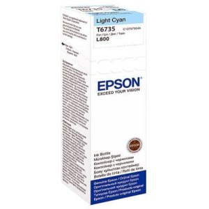 EPSON T6735 LIGHT CYAN 70ML BUTELKA DO L800