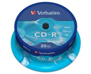 VERBATIM CD-R 700MB *52 CAKE25 43432