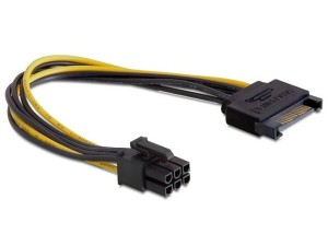DELOCK KABEL SATA POWER M/PCI EXPRESS 6PIN 21CM
