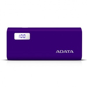 ADATA P12500D 12500mAh PURPLE 2.1A POWER BANK