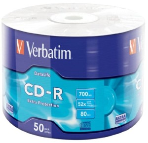 VERBATIM CD-R 700MB *52 SPIN50 43787