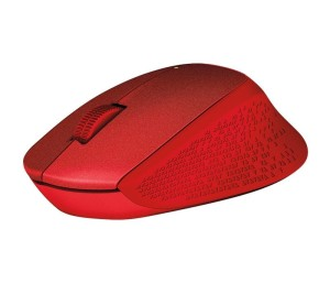 LOGITECH M330 SILENT PLUS RED MYSZ 910-004911