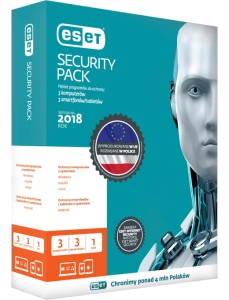 ESET SECURITY PACK 3PC + 3SMARTFONY 1ROK KONTYNUACJA ESP3U1YB