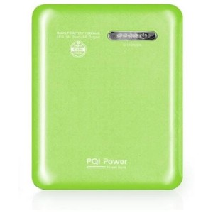 PQI I-POWER 12000S MAH 2*USB 2,4A GREEN POWER BANK