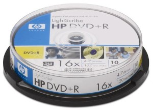 HP DVD+R 4.7GB 16* CAKE10 129647