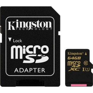 KINGSTON SDCA10/64GB MICRO SDHC CLASS10
