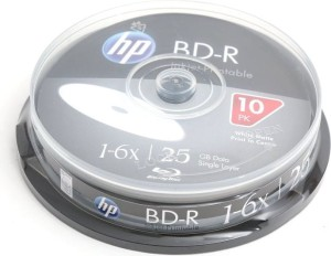 HP BD-R 25GB 6* PRINTABLE CAKE10 142455