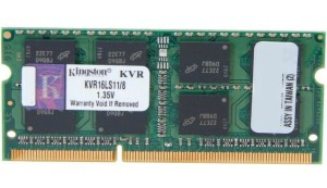 KINGSTON DDR3 SODIMM 8GB 1600MHz KVR16LS11/8