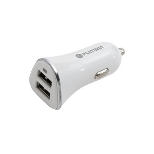 PLATINET PLCR2W CAR CHARGER 2*USB 3,4A WHITE 43720