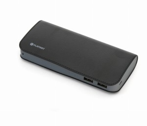 PLATINET 15000mAh POWER BANK LEATHER BLACK 43674