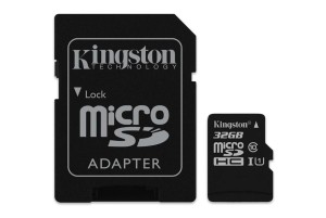 KINGSTON 32GB microSDHC+ADP CL10 SDC10G2/32GB