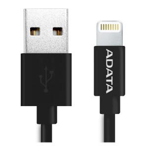 ADATA KABEL LIGHTNING 1M APPLE CERT. BLACK