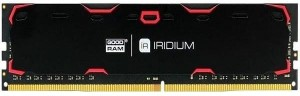 GOODRAM IRIDIUM DDR4 DIMM 8GB 2400MHz BLACK IR-2400D464L17S/8G