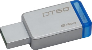 KINGSTON DataTraveler DT50 64GB USB 3.0 BLUE DT50/64GB PENDRIVE
