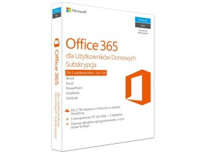 MICROSOFT OFFICE 365 HOME 1Y 5PC 6GQ-00704